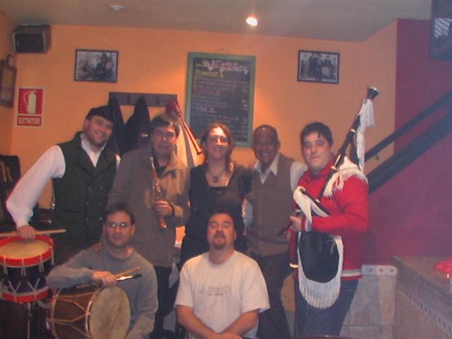 Nel Cuevano con Orestes, Jose, Marta, Alberto, Luis y Simón